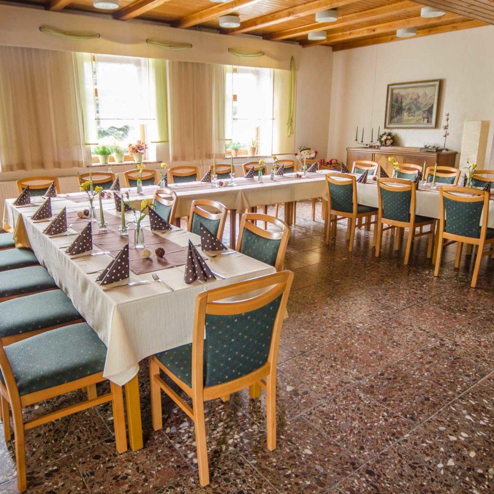 Saal für Feiern im Bergschlösschen Muldenberg