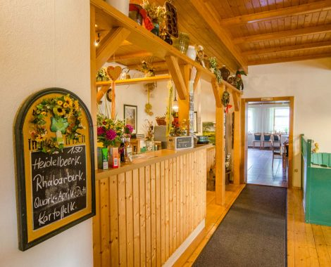 Gastraum im Bergschlösschen Muldenberg